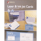 Maco Laser/Inkjet Business Cards, Ivory
