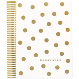 Address Book, Large, Gold Dots