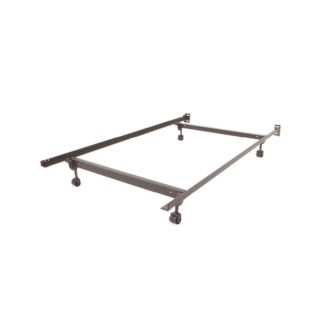Steel Bed Frame With Rollers, Twin